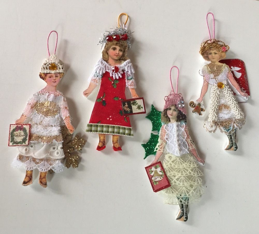 Paper doll Vintage Christmas Valentine  Easter ornaments item# 1A Victorian