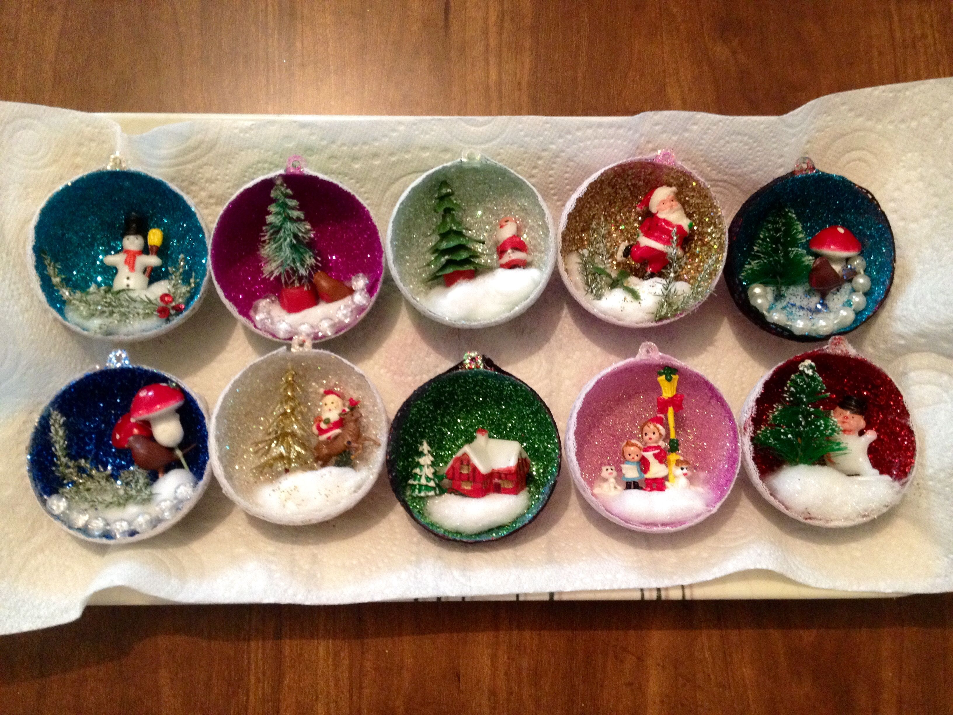 christmas crafts with styrofoam balls