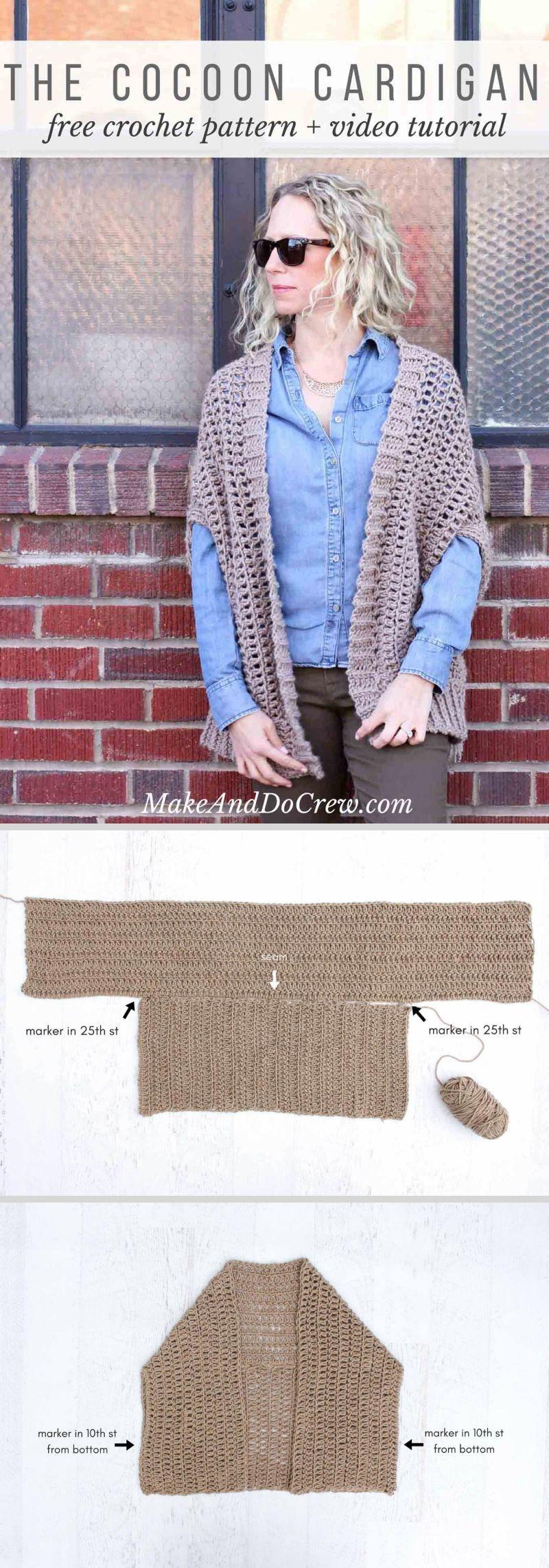 5fcc4412d687a Cocoon Cardigan Free Crochet Pattern