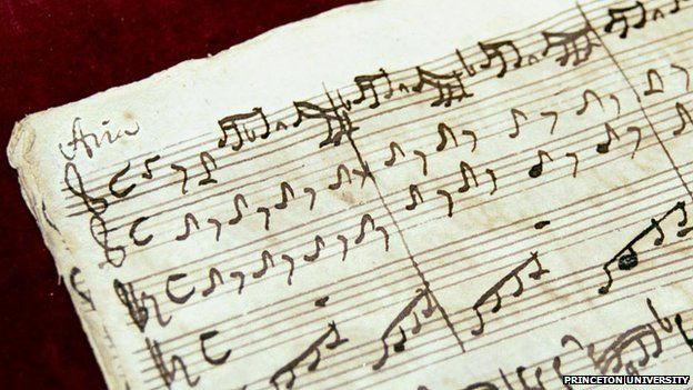 The Scheide Library's autograph manuscript of Cantata 33 dates from 1724, Bach's second year as cantor at St. Thomas Church in Leipzig, Germany