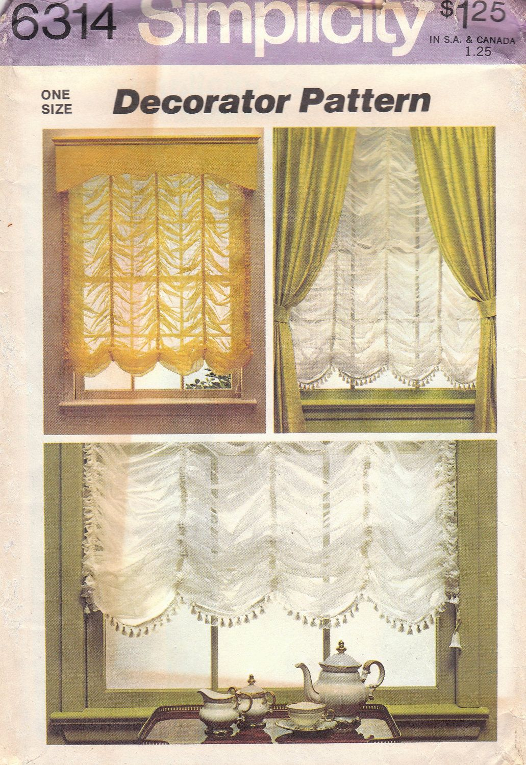 Ho how to tie balloon curtains - Austrian Shade Pattern Simplicity 6314 Uncut