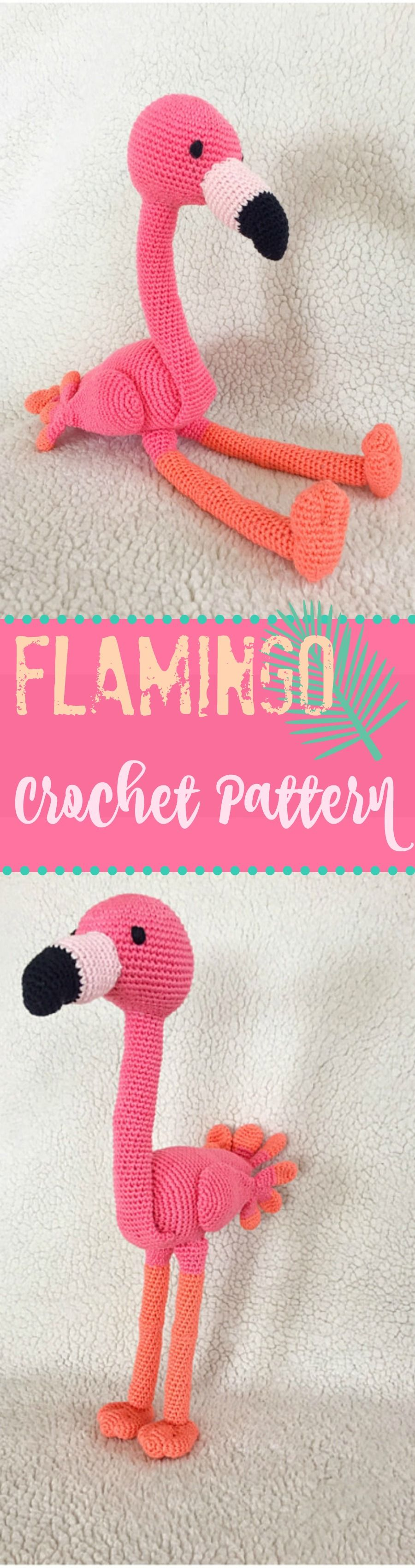Sweet little flamingo amigurumi crochet pattern ...#afflink #crochet ...