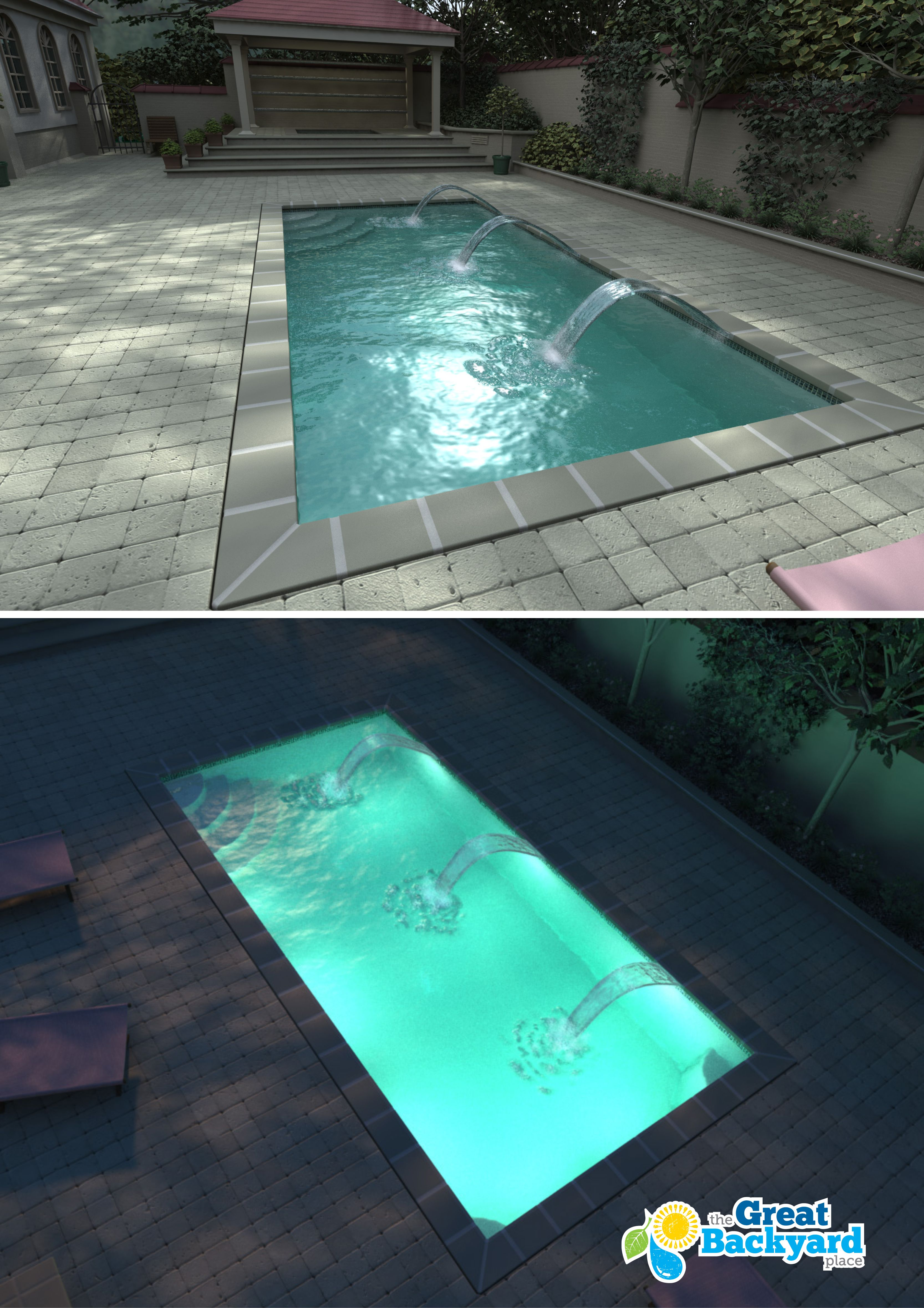 Elegant The Helios Compact Rectangular Shape Is A Great Option For Those Looking  For A Smaller Sized Rectangle Pool. It Is Also An Excellent Model For  Adding Water ...