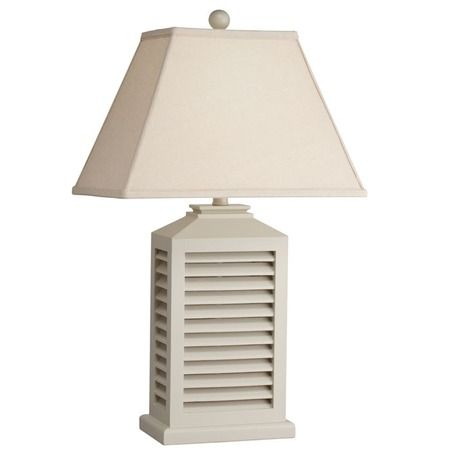Shutter Table Lamp White Table Lamp Cottage Table Table Lamp