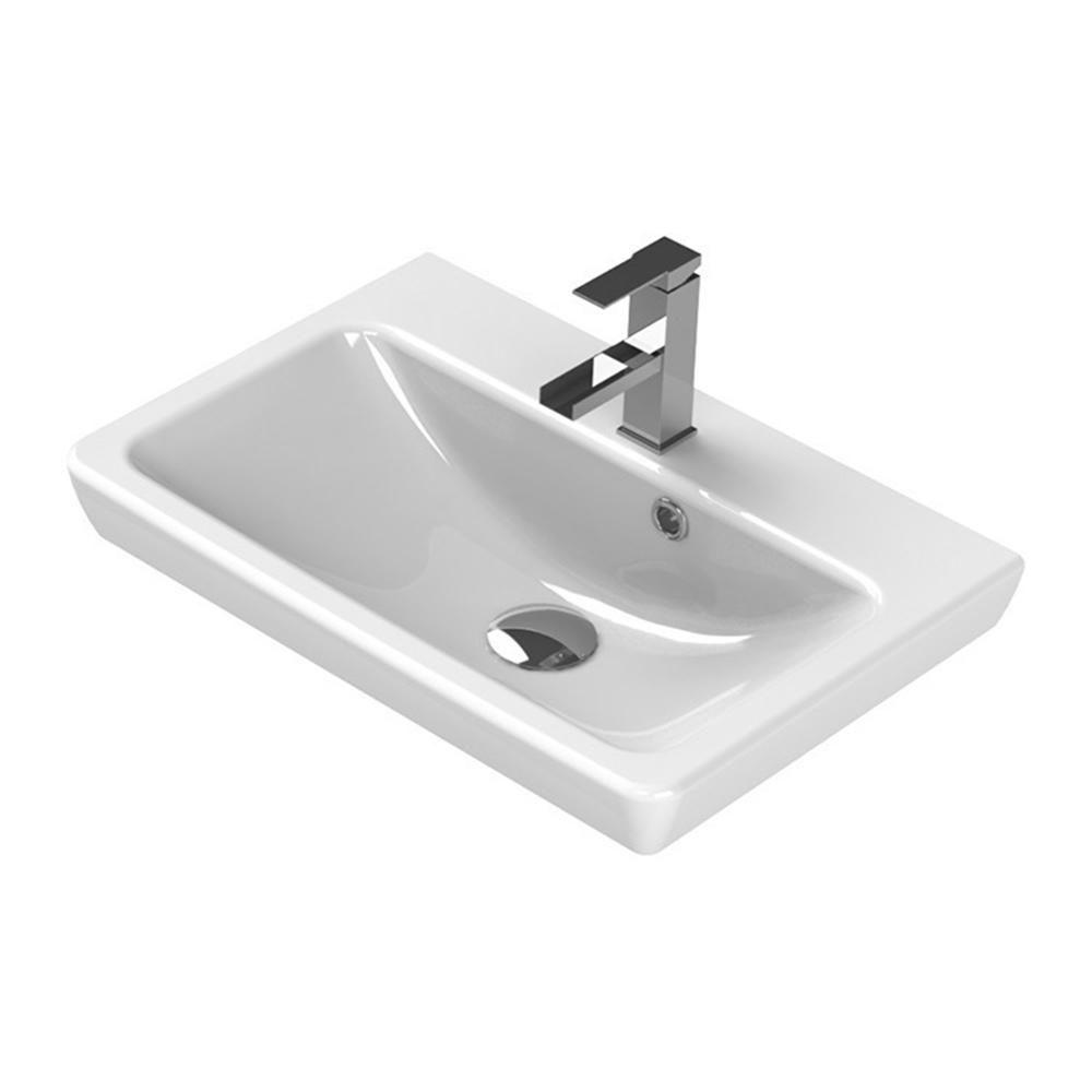 Nameeks Porto Wall Mounted Bathroom Sink In White Cerastyle 068000