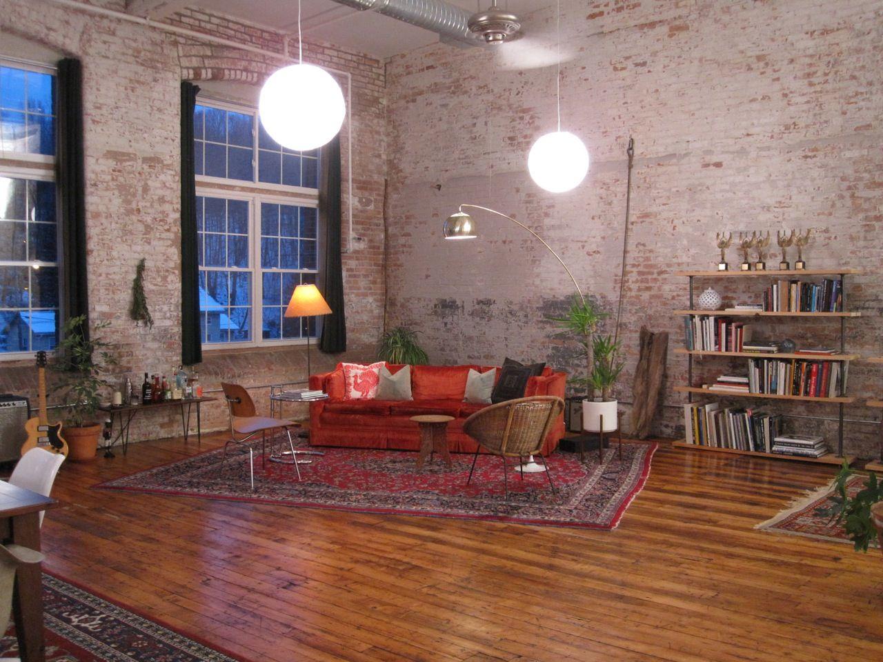 Big Loft Apartment Industrial Yet Homey Not Overdone Every - Loft apartment brick