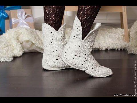 Crochet Granny Slippers Tutorial - YouTube