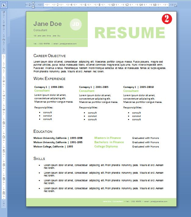 professional resume design for non designers - Most Professional Resume