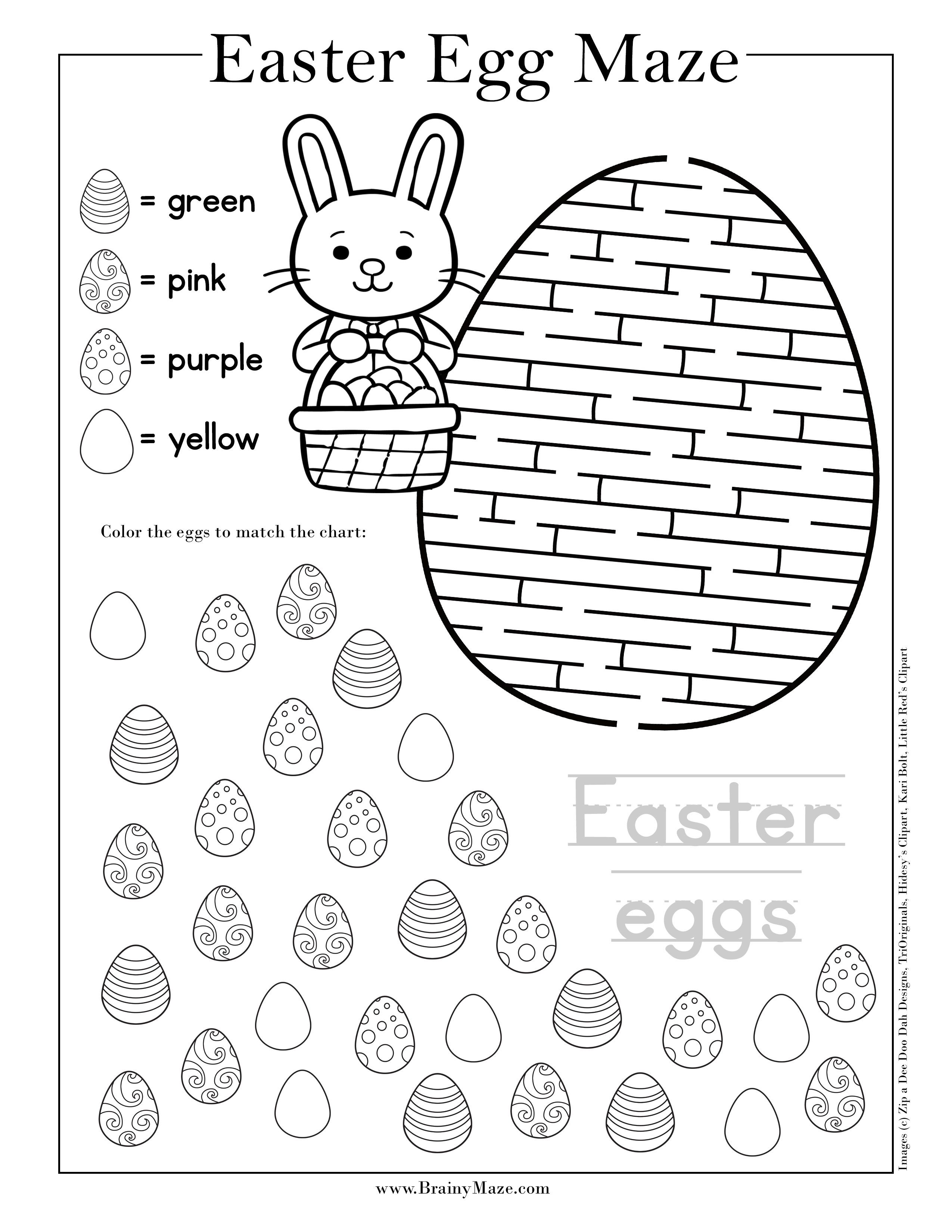 image relating to Easter Maze Printable known as Easter Mazes for Children - Brainy Maze No cost Printables