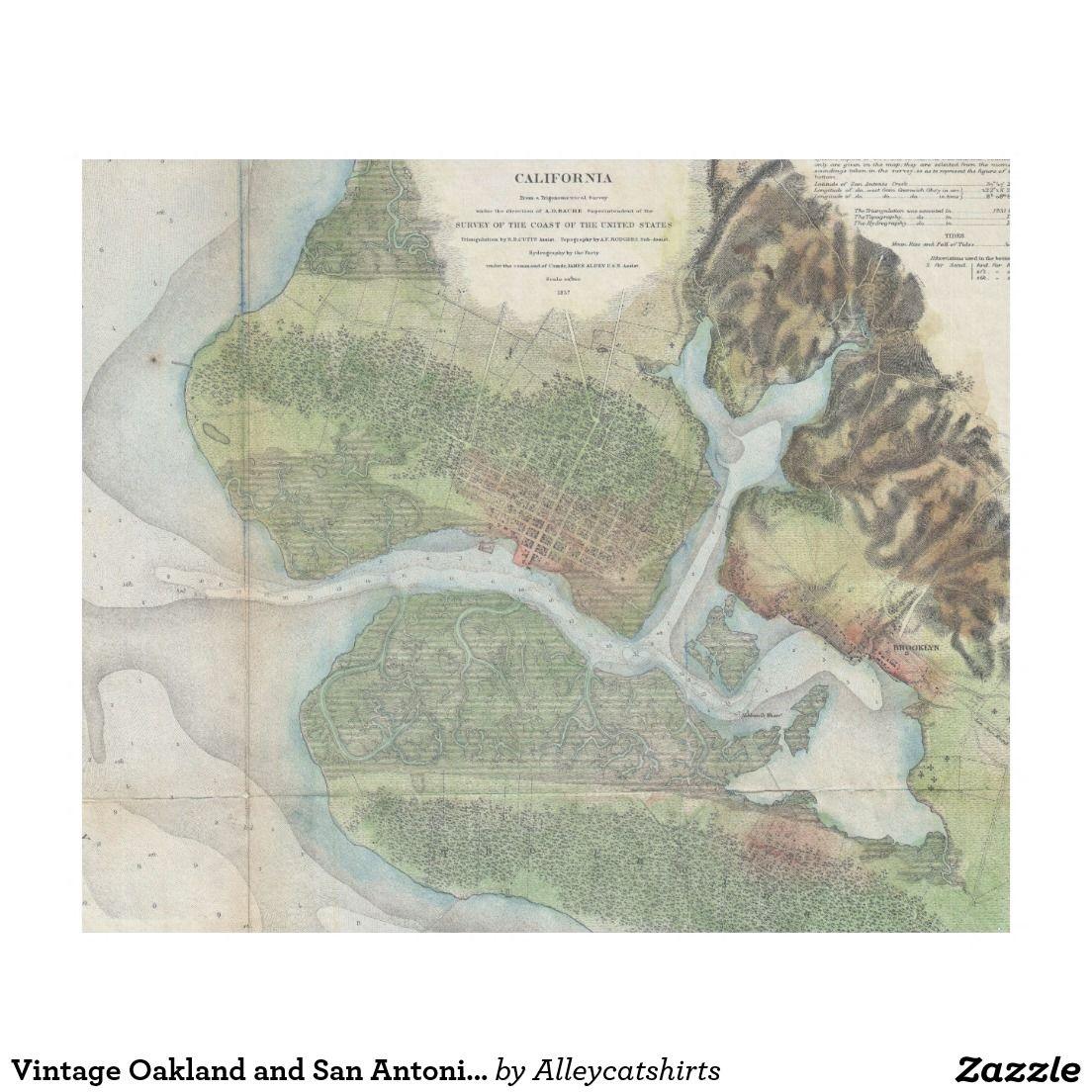 Vintage oakland and san antonio creek map 1857 fleece blanket vintage oakland and san antonio creek map 1857 fleece blanket publicscrutiny Image collections