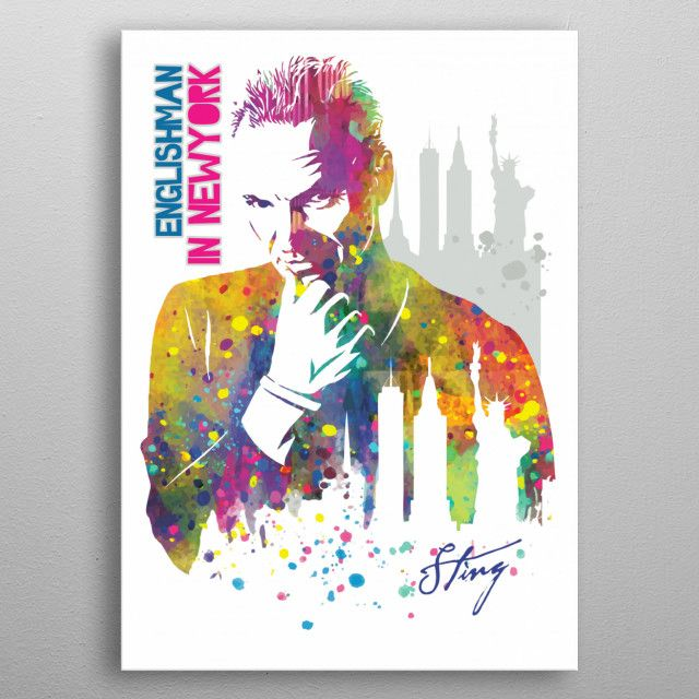 #Sting, is an English musician, singer, #songwriter, and #actor. #metalposter #displate   Displate thumbnail