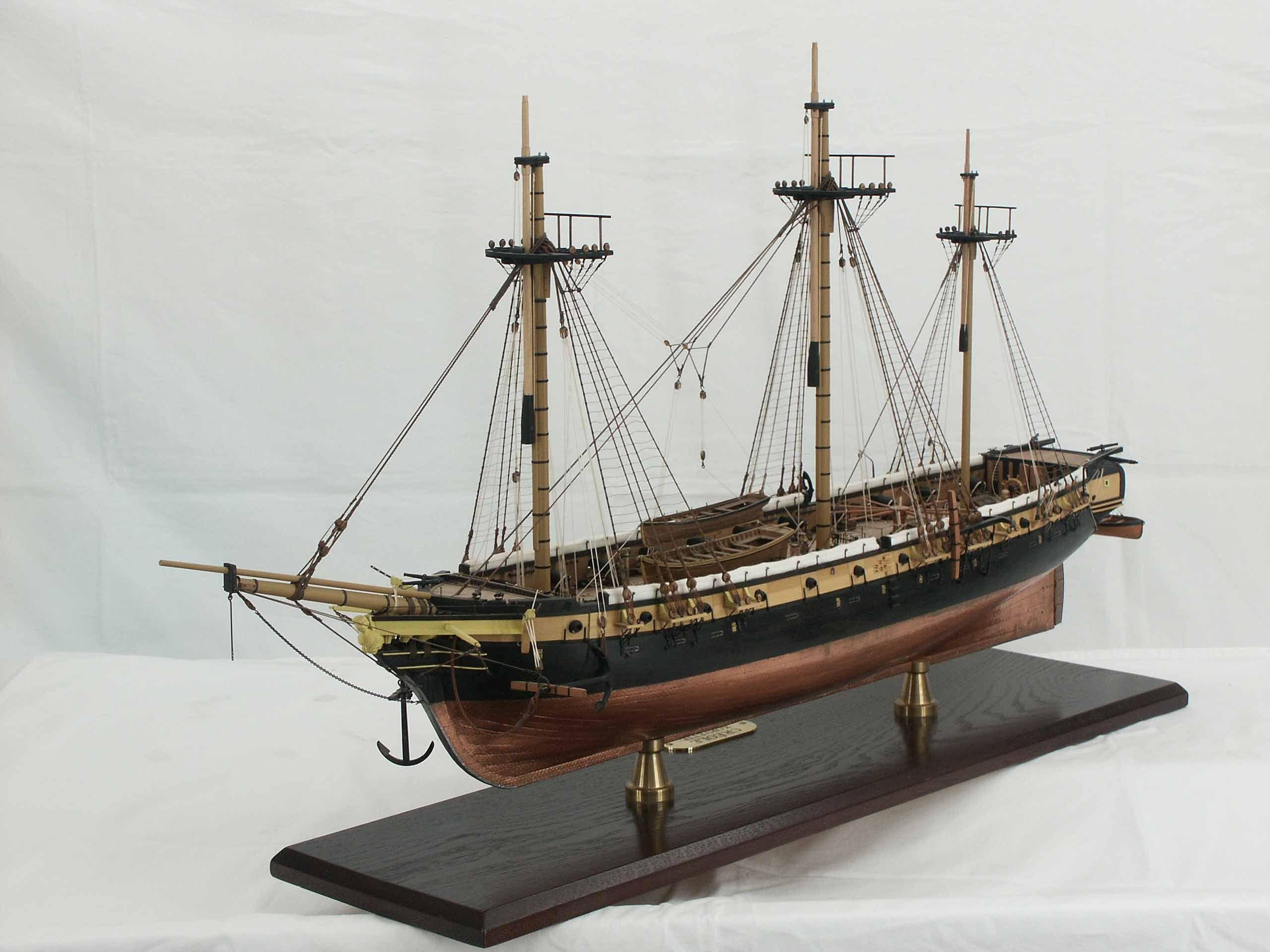 Historic ship models - French corvette LA CRÉOLE ~START ...