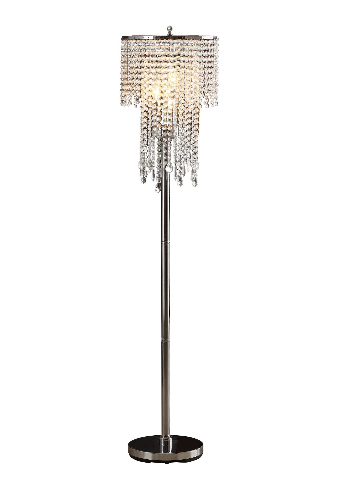 Tillinger 63 3 Light Crystal Floor Lamp Crystal Floor Lamp