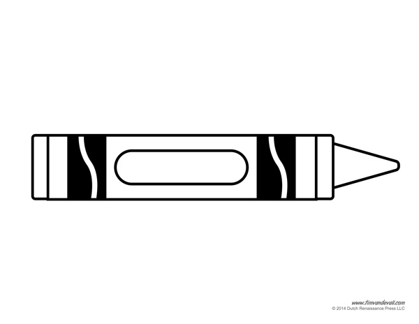Clipart Black And White Crayon