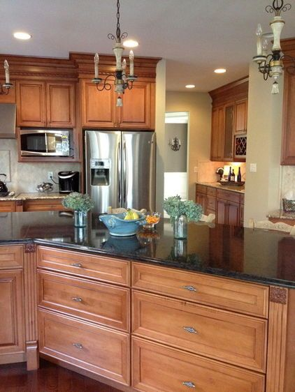 Nice Light Fixtures And Contrast In Countertops Even Like