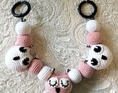 Items similar to Crochet Owl Stroller Toy, Baby Mobile on Etsy
