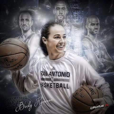 Spurs Assistant Coach Becky Hammon. Go Spurs Go