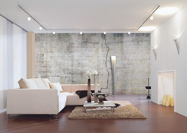 Raumbild 11 aus der Tapetenkollektion AP Beton von Architects - steinwand tapete wohnzimmer