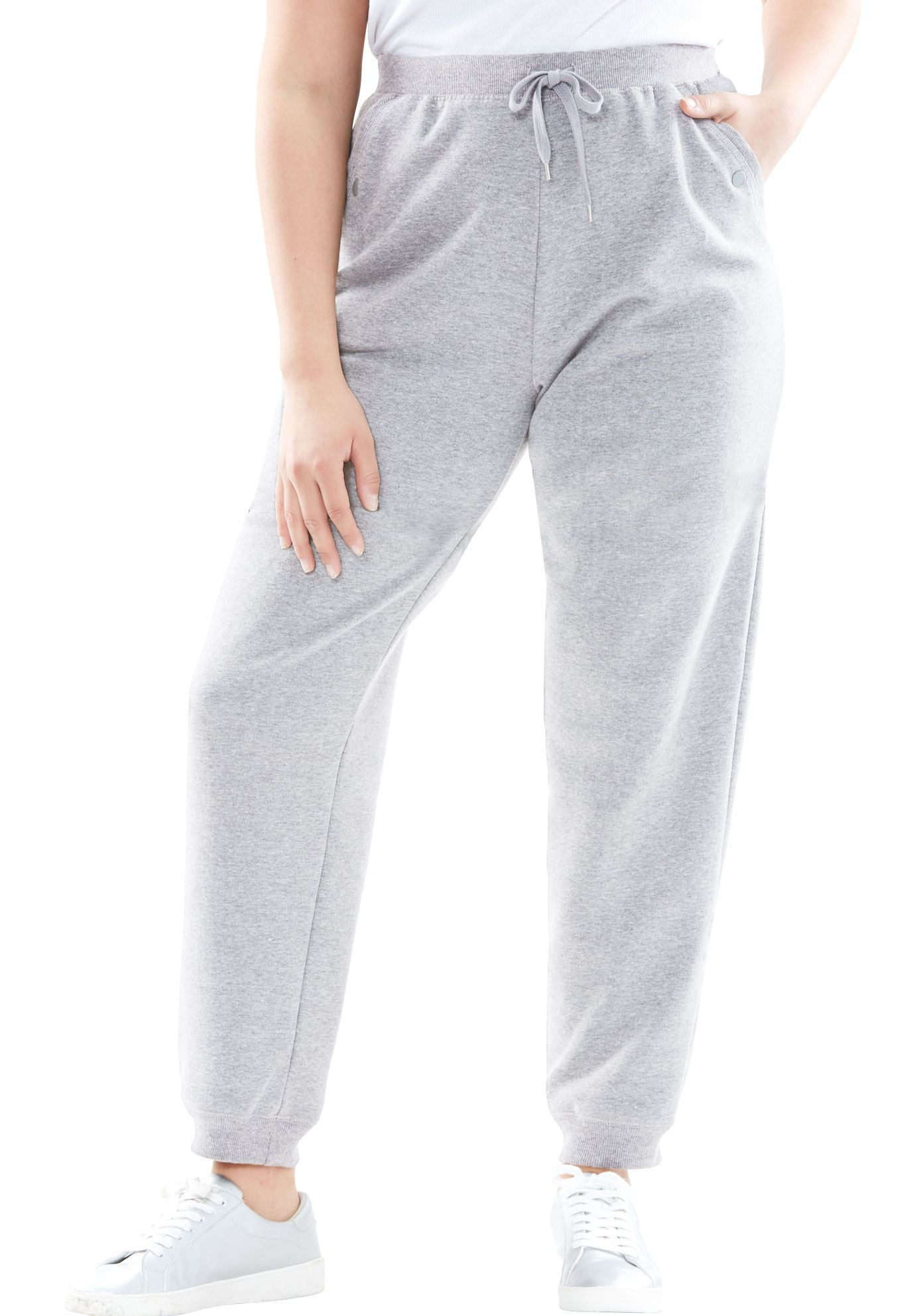 273d329341f5b Petite Fleece Jogger Sweatpants - Women's Plus Size Clothing ...
