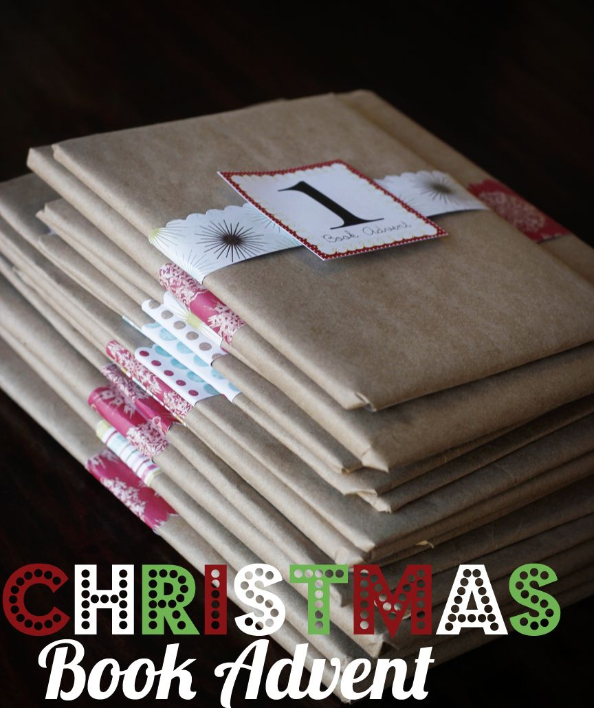 Christmas Storybook advent... complete with a list of the books she used - love the packaging