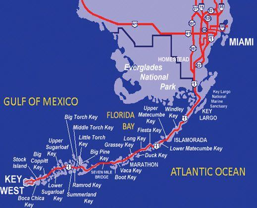 Visiting The Florida Keys Fun Facts Florida Keys Key And Key West - Detailed map of florida