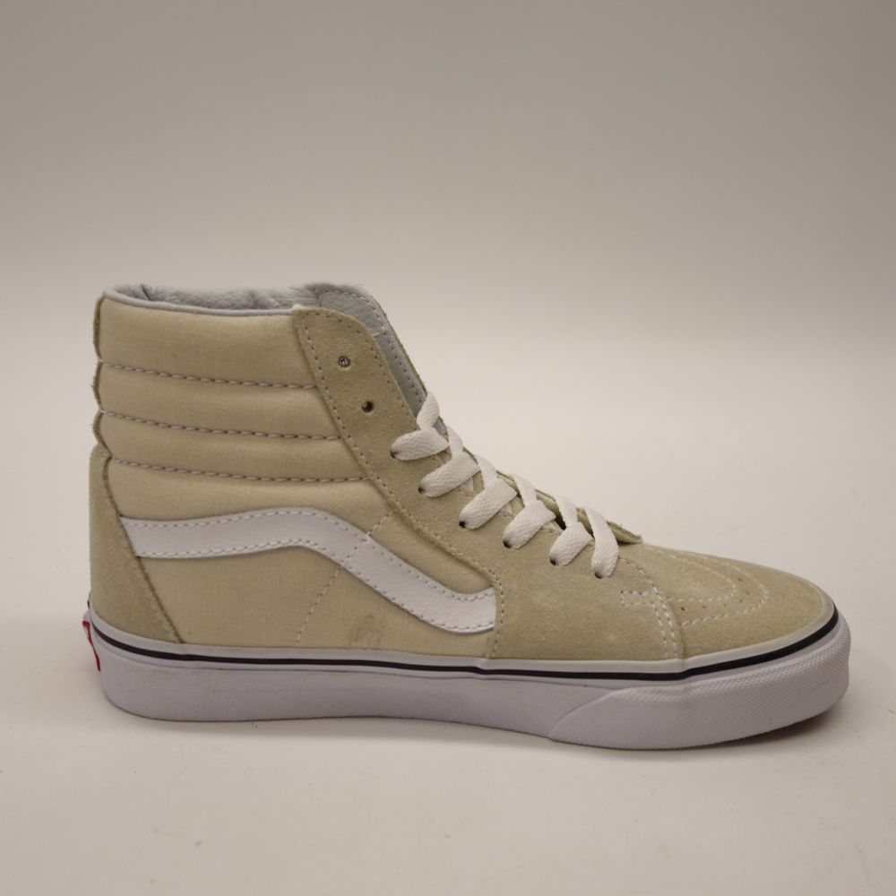 2ccedb0071 New Vans Womens Cream Slim Skater High Top Classic Suede Shoes Left 6 Right  6.5  VANS  HighTop
