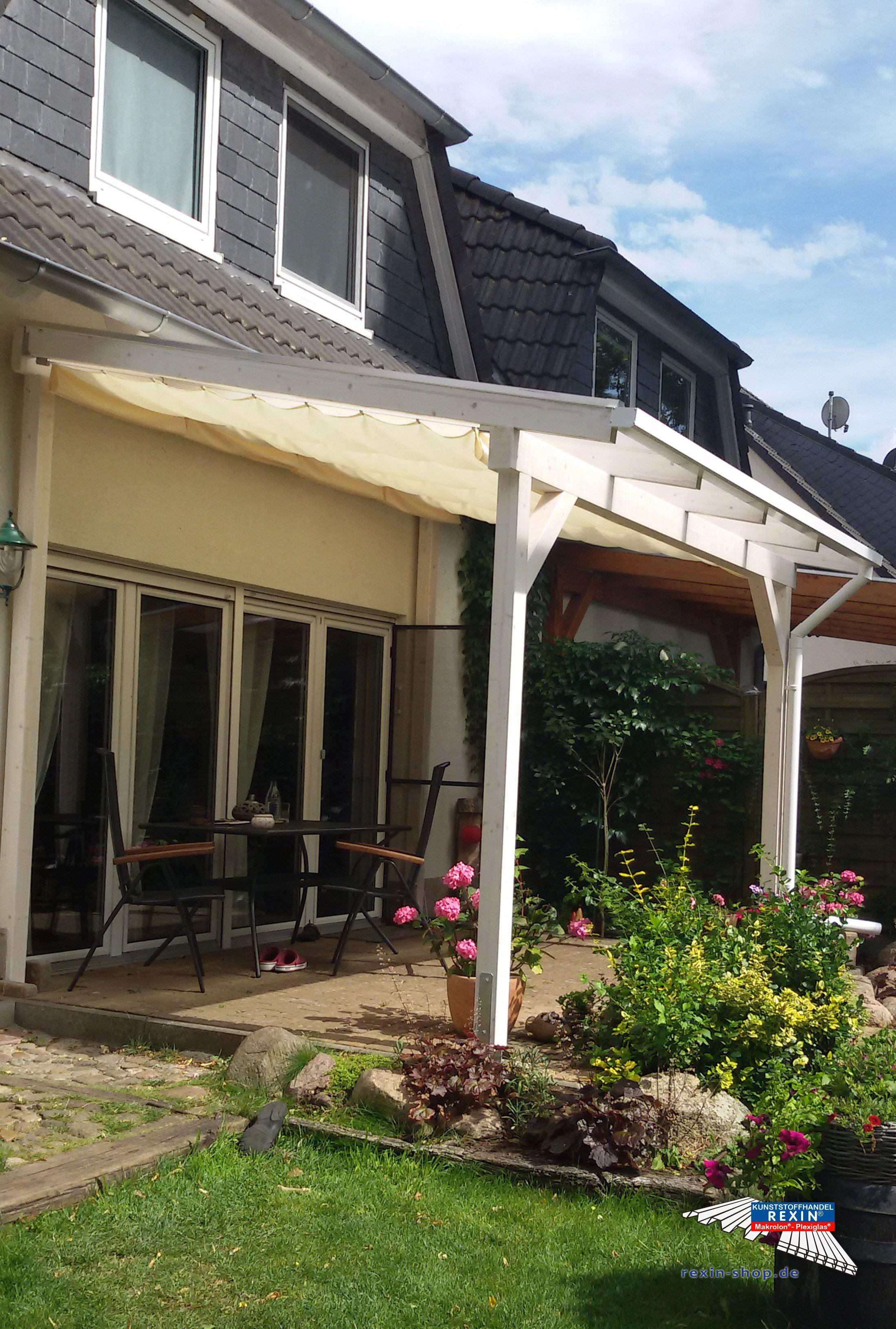 Ein Holz Terrassendach Der Marke Rexocomplete 4m X 3m In Weiss Mit