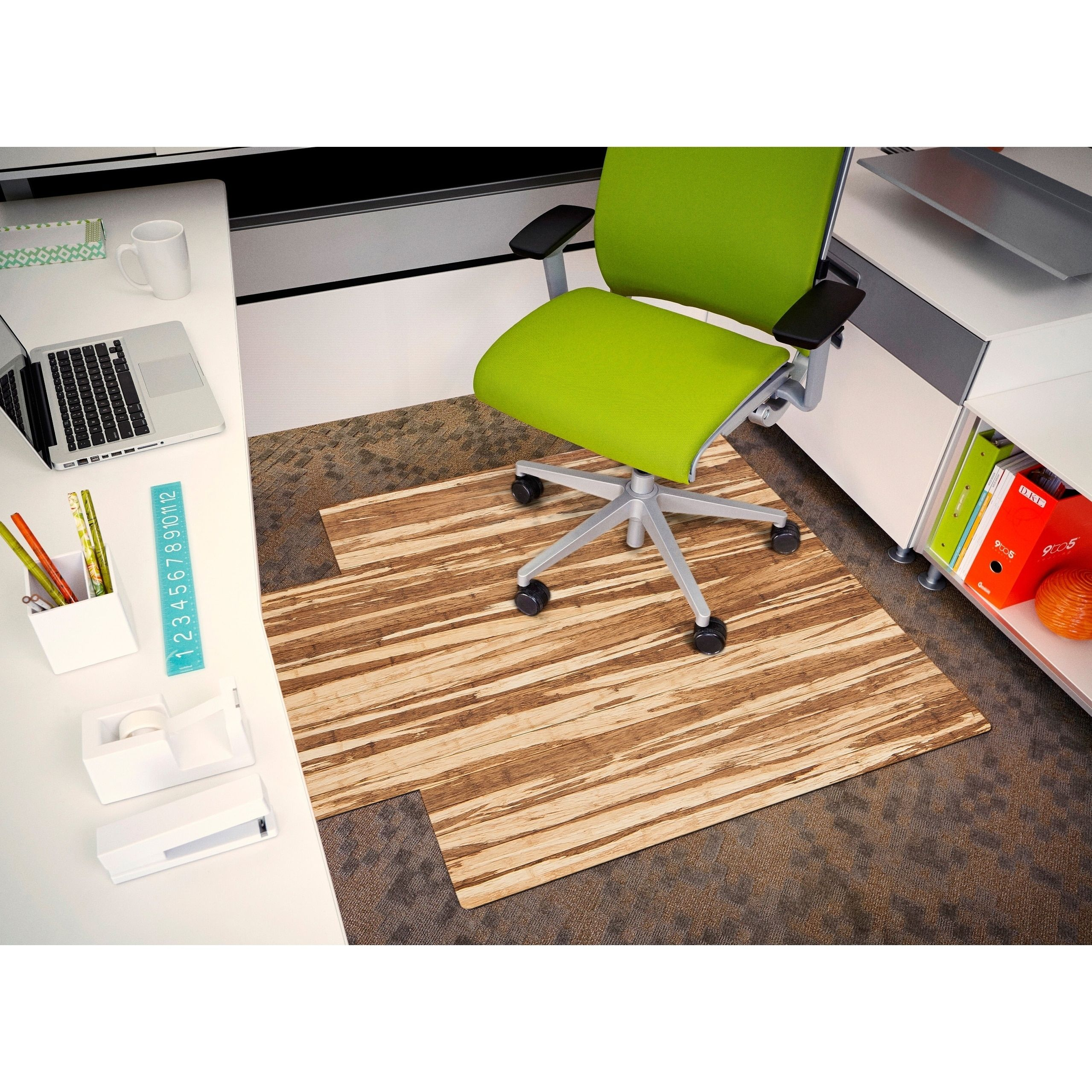Strand Bamboo Roll Up Chair Mat With Lip 44 X 52 Brown Products In 2019 Chair Mats Office Chair Mat Chair
