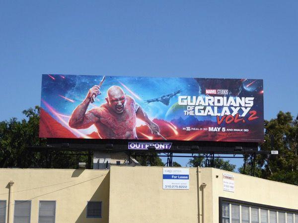 Drax Guardians of the Galaxy Vol. 2 billboard
