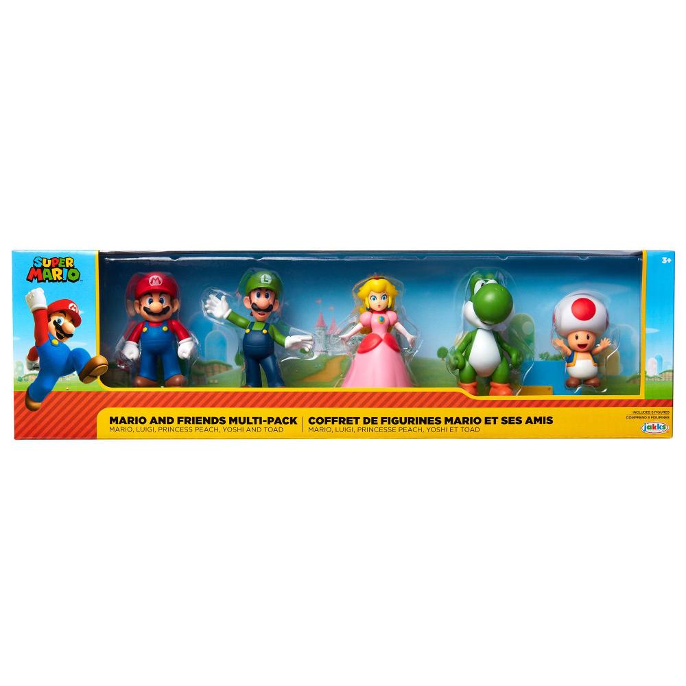 Super Mario Bros Mario And Friends Multi Pack Action Figures Gamestop Super Mario Toys Peach Mario Bros Mario Bros