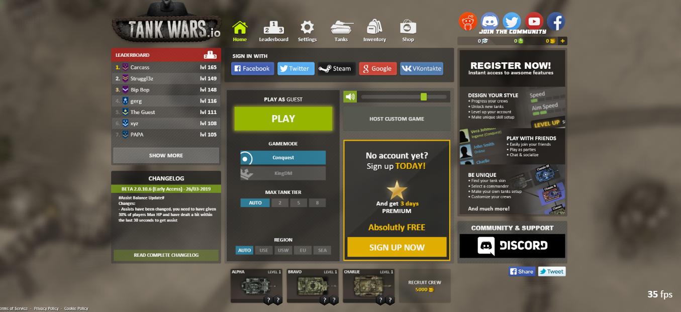 TankWars.io Free online games, Arcade, Online games