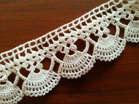 Vintage Lace Edge Crocheted Cotton Trim Crochet Lace Trim Home