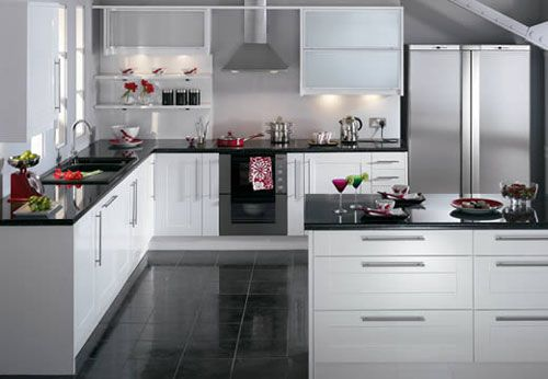 kitchen design black and white. white cabinets  Kitchens Pinterest Kitchen design