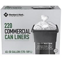 0192485769496 Member's Mark 45-50 Gallon Commercial Trash Bags (10 rolls of 22 ct ...