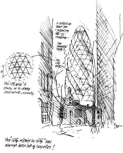 Norman Foster Sketch