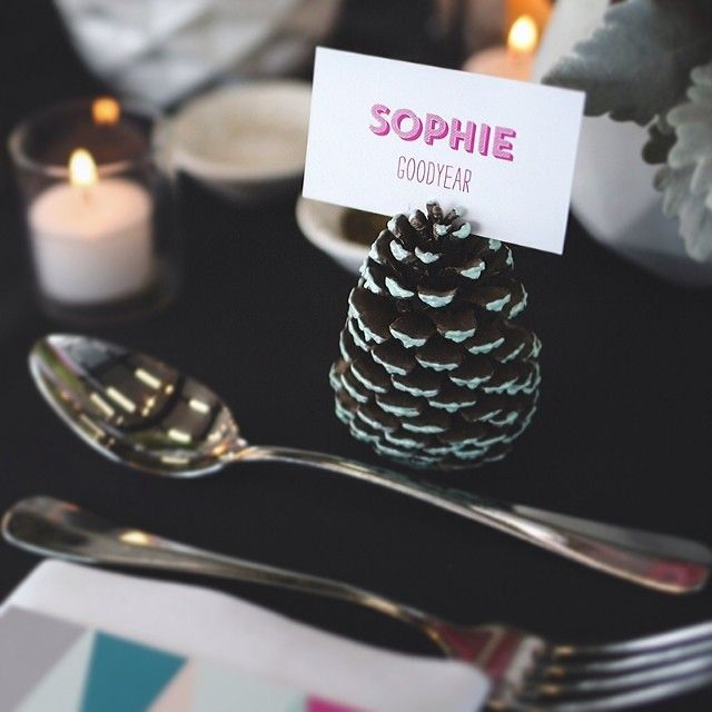 Sneak peak of Sophie  Chris' wedding!! #pinecones #thestyleco photo by @hikariphotography by thestyleco