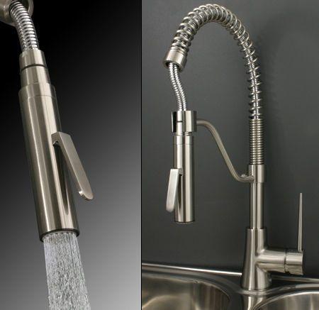 Spueltisch-Armatur-Kuechen-Einhebelmischer-Edelstahl-Gebuerstet - küchenarmaturen mit brause