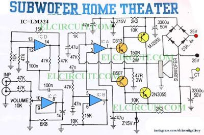5 1 Subwoofer Circuit Diagrams - Wiring Diagram Query  Home Theater Wiring Diagram on