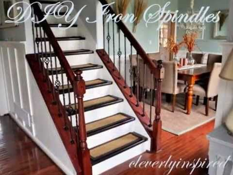 Best Diy Iron Spindles Staircase Remodel Youtube Staircase Remodel Diy Staircase Remodel 400 x 300