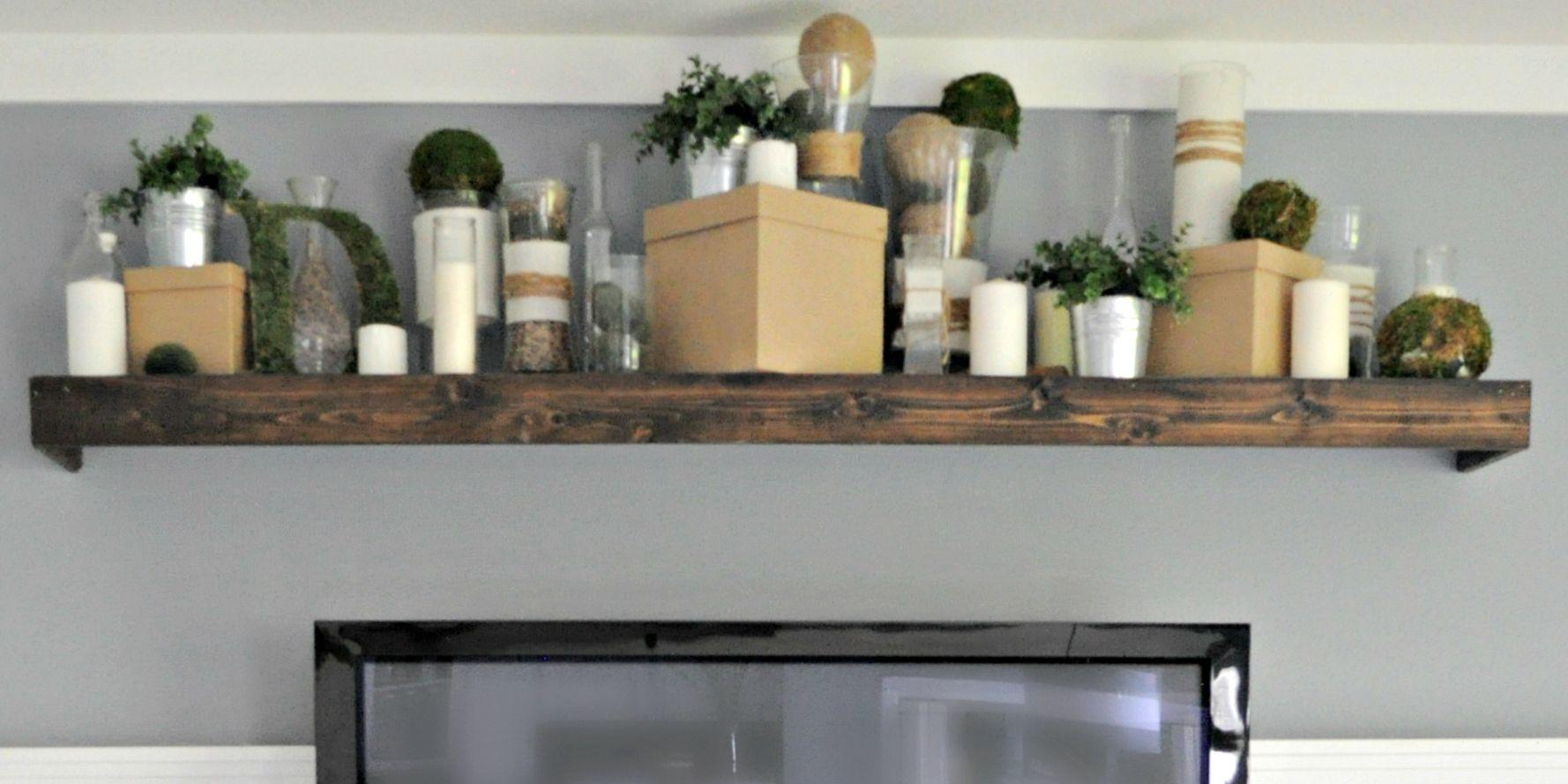Turn an ikea shelf into a pottery barn ledge pottery barn style