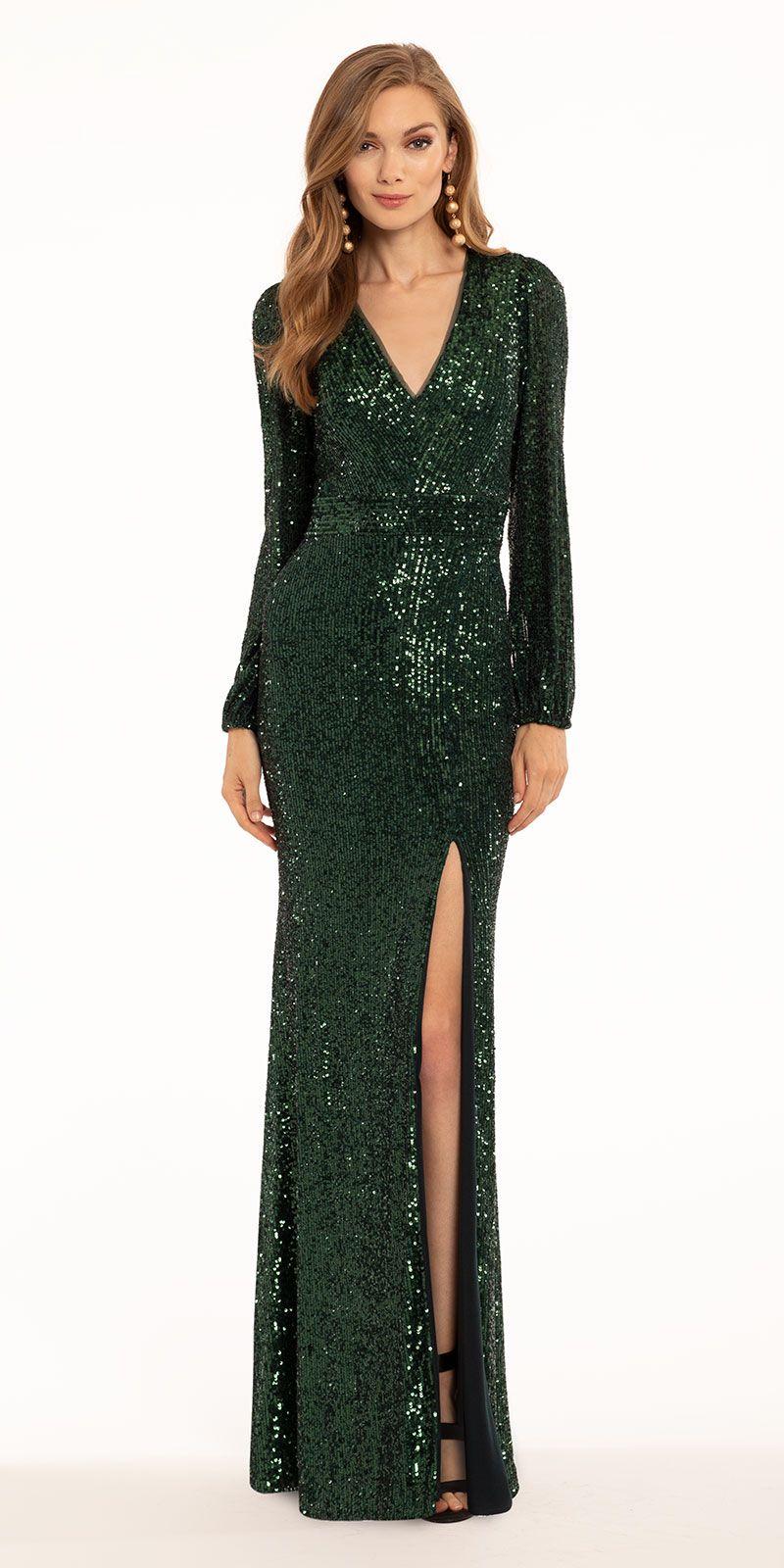 Long Sleeve Sequin Dress Long Sleeve Sequin Dress Black Tie Event Dresses Black Tie Wedding Guest Dress [ 1600 x 800 Pixel ]