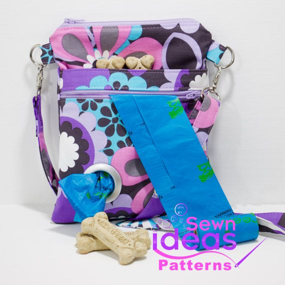 Slim Crossbody Dog Walking Bag Pdf Sewing By Sewnideaspatterns