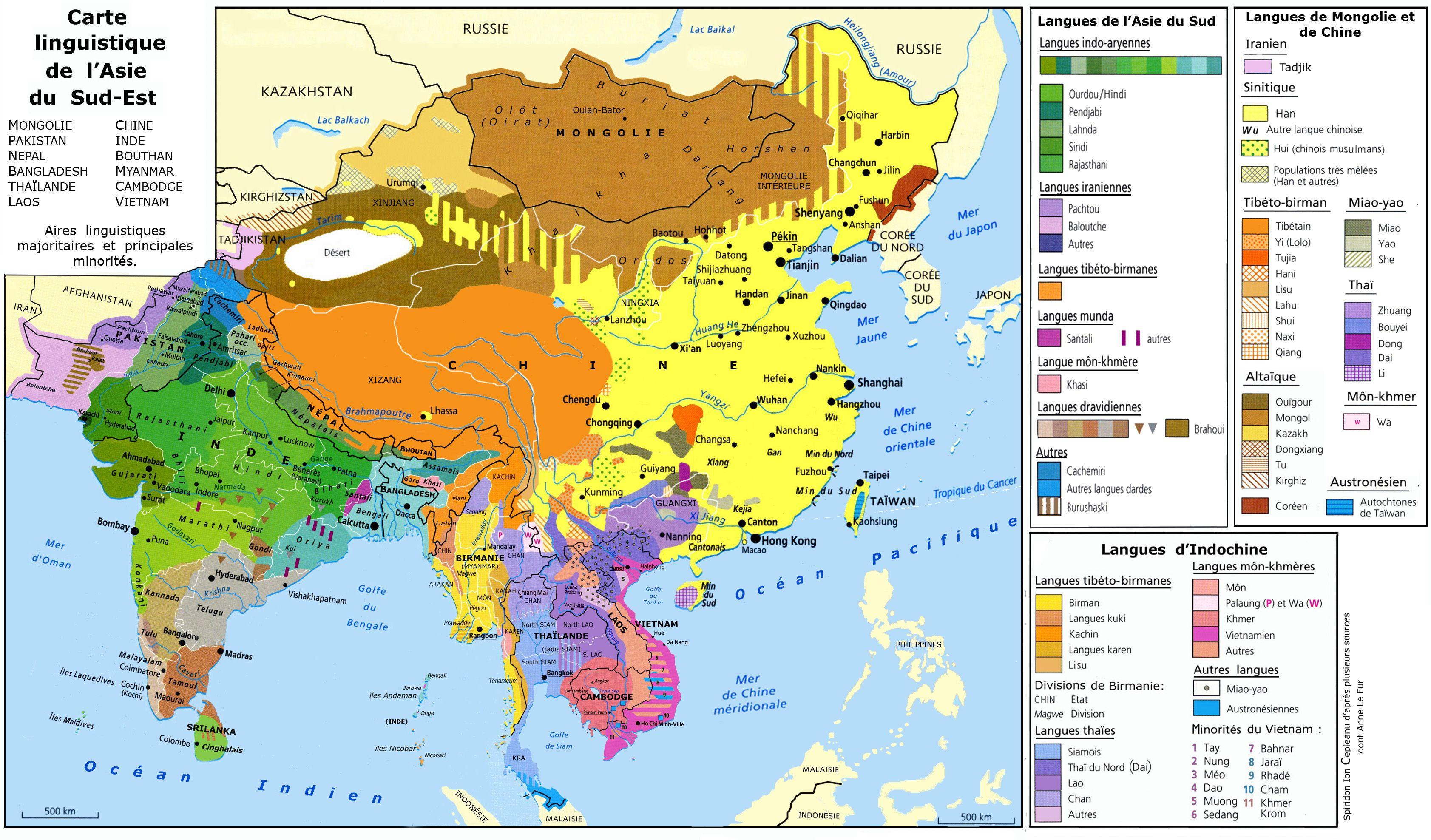 Principales langues parlées en asie du sud est | Médias ...