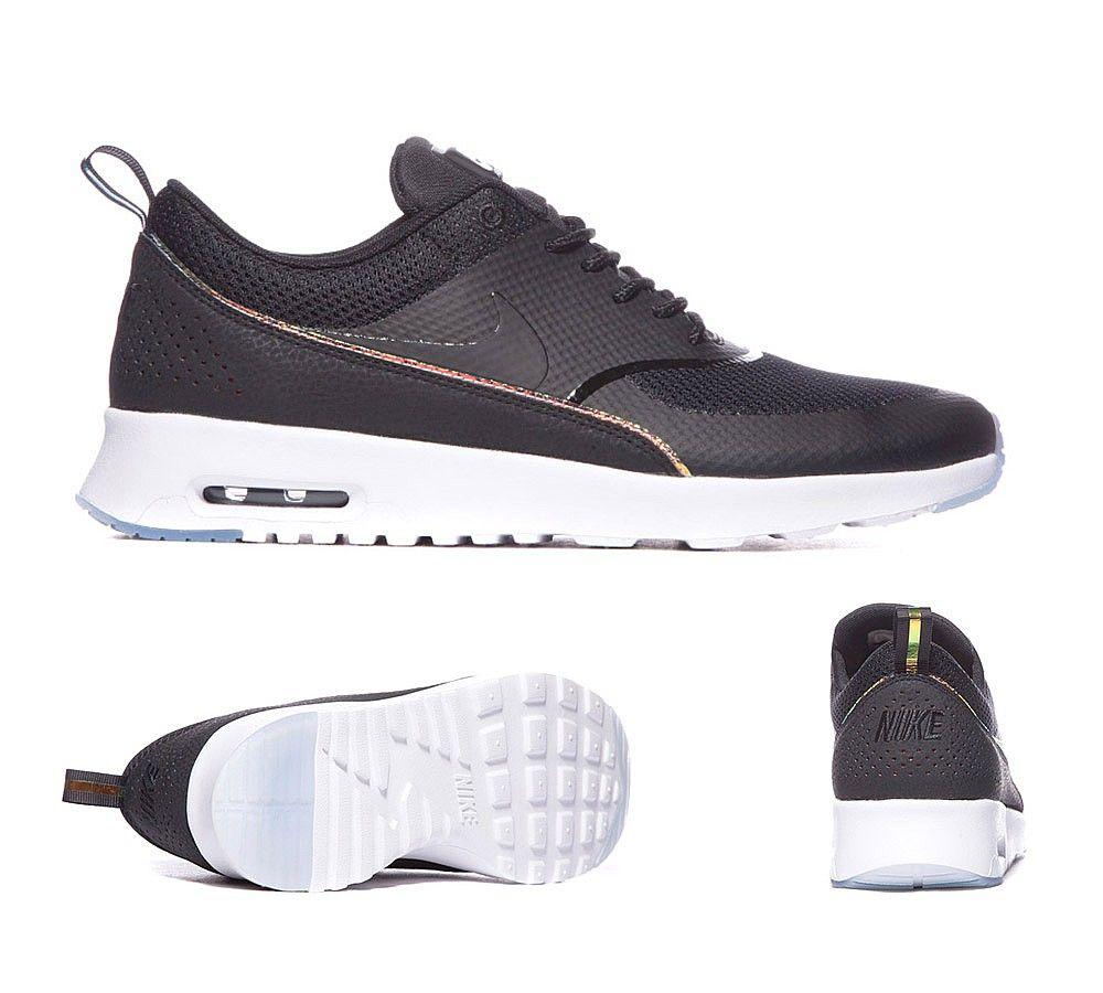 promo code 83722 4d2e5 Nike Air Max Thea Premium Trainers Black Blue Tint S92296