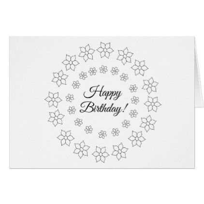 Color Your Own Card Small Flowers Small Flowers And Flower