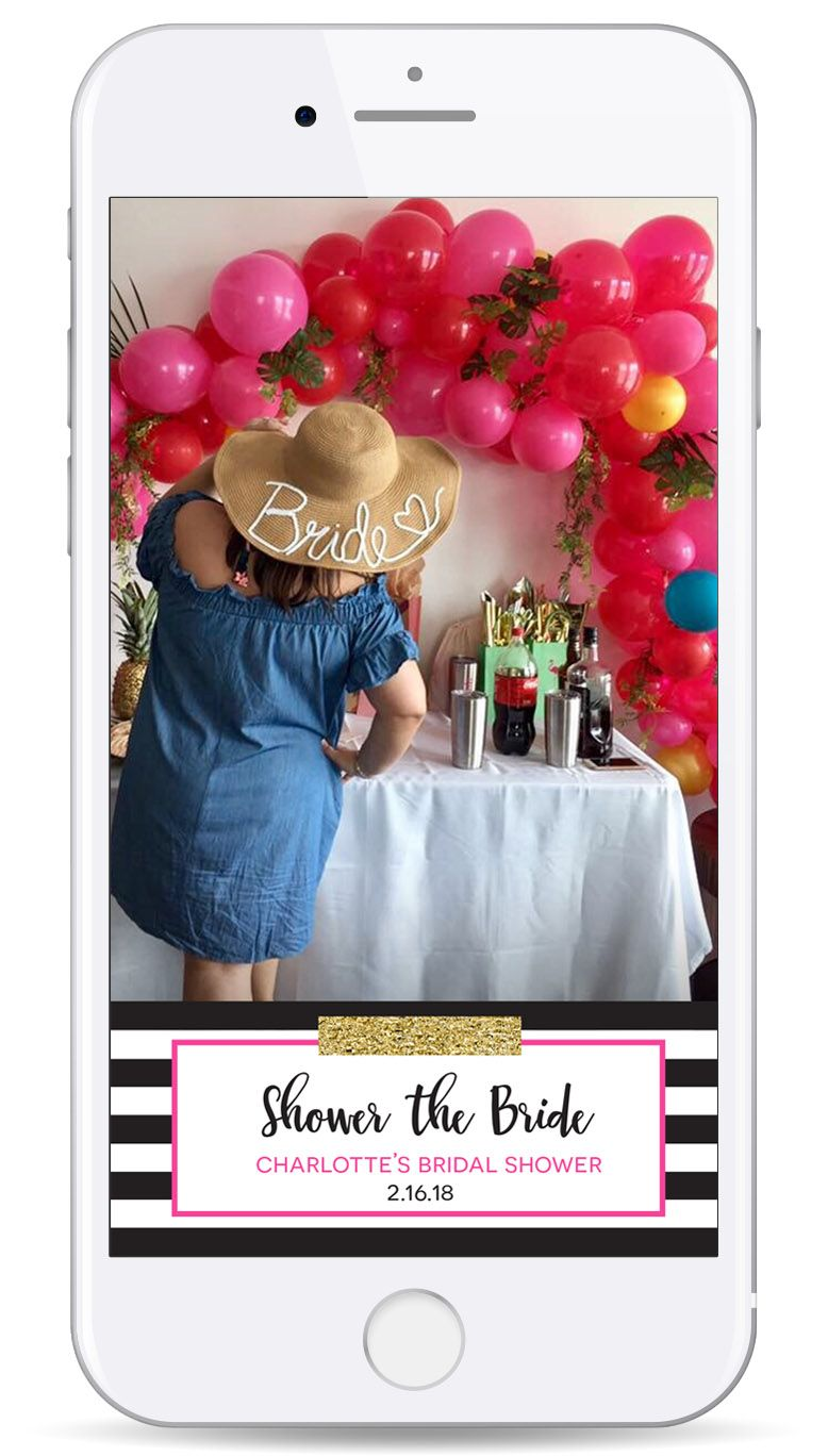 Kate Spade Geofilter - Shower the Bride - Snapchat Filter - snap ...