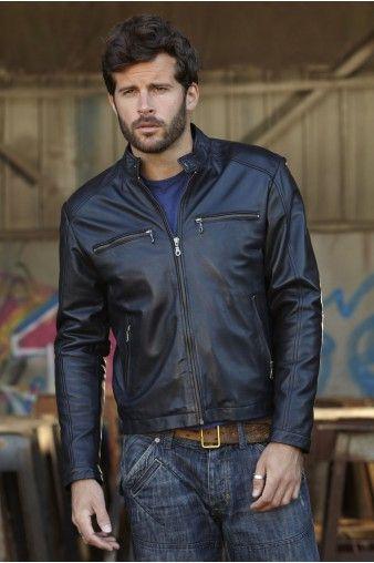 Manteau homme style motard