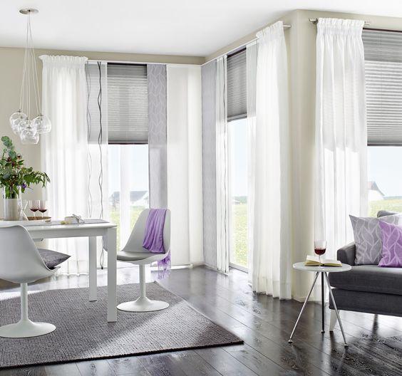 gardinen und vorh nge dienen nicht nur zum sonnen und sichtschutz sondern lockern auch das. Black Bedroom Furniture Sets. Home Design Ideas