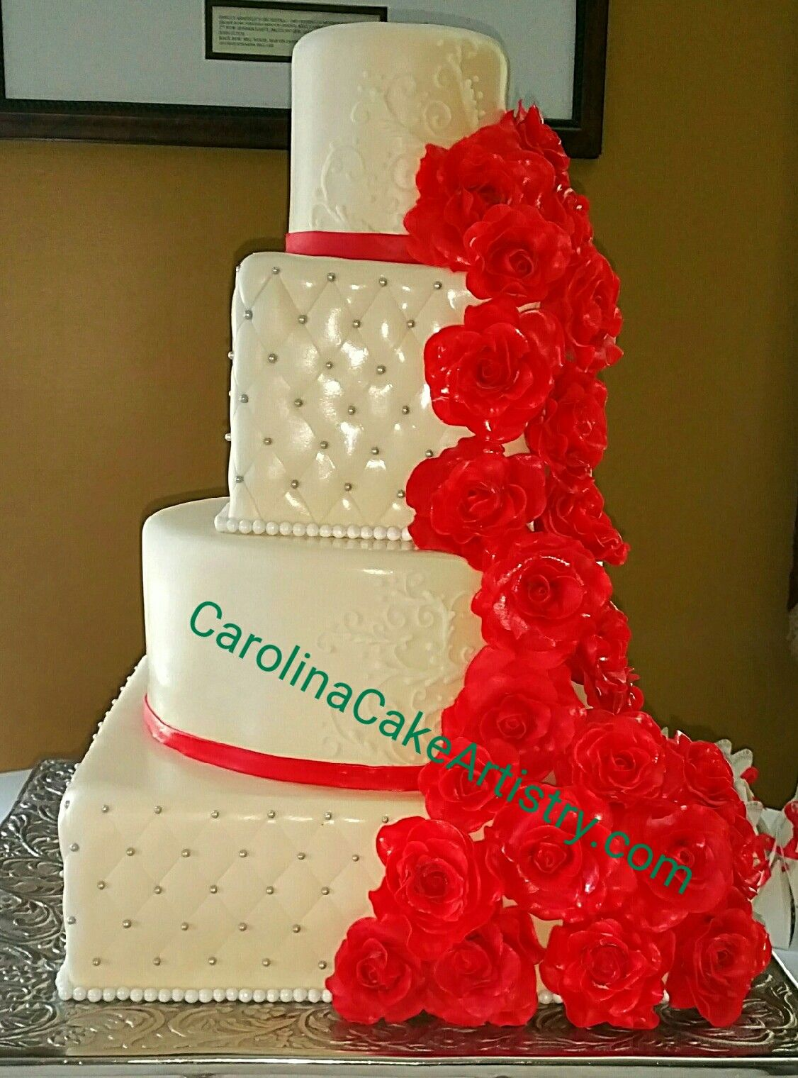 Pin by carolina cake artistry on wedding cakes pinterest tier