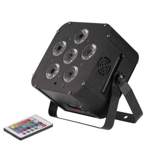 108w Led Rgbwap 6 10 Channel Par Light Build In Wireless Dmx Receiver Rechargeable Battery Stage Lamp With Remote Controller Support Light Building Dmx Remote